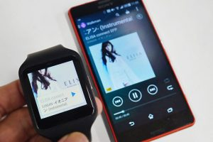 music player on sony smartwatch 3 swr50